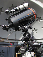 Celestron C-11, Losmandy G-11 mount and Megrez 80 guidescope