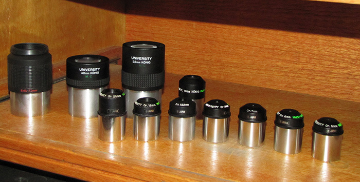 Rabbit Valley Observatory's Orthoscopic eyepieces
